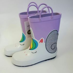 Cat & Jack Girls Toddlers Unicorn Rain Boots